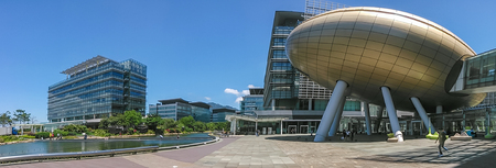 The Hong Kong Science and Technology Park is located in Pak Shek Kok, New Territories, on the boundary of Sha Tin District and Tai Po District.