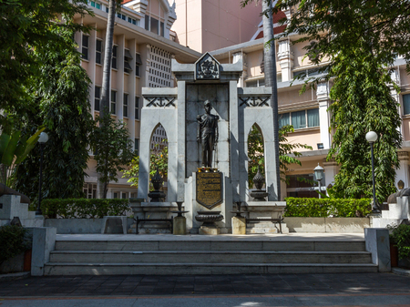 younger: Statue of King Pinklao (Younger brother of King Rama IV) in front of the National Theatre in Bangkok, Thailand.