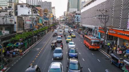 traffic jams: Commutors in Bangkok suffers from heavy traffic jams due to excess of cars on the road. Editorial