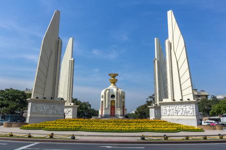タイ、バンコクの民主記念塔