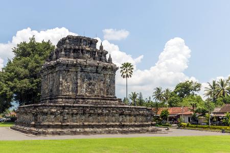 Mendut is Buddhist temple located near Borobudur in Magelang, Indonesia. Stock Photo