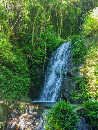 mo: A waterfall in Ng Tung Chai tail in Tai Mo Shan country park in Hong Kong
