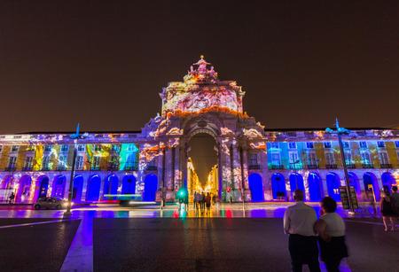 Lisboa City of the Sea is a multimedia spectacle in Praca de Comercio Lisbon, Portugal.