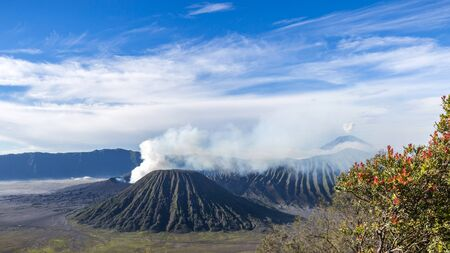 Mt Bromo in Java, Indonesia 스톡 콘텐츠
