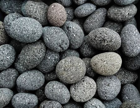 Pile  of natural  grey    stones used to decorate the garden or parts of the house indoor or outdoor Banque d'images - 133061471