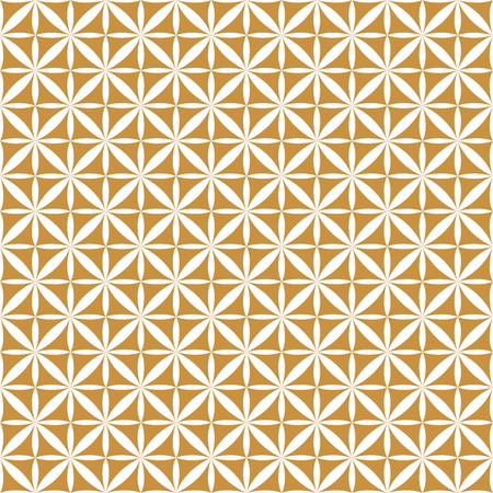 Vector Ornamental Seamless Pattern. Geometric Flower Stylish Texture. Abstract Retro Tile Texture.