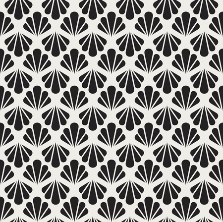 Vintage Vector Art Deco Seamless Pattern. Geometric decorative texture.