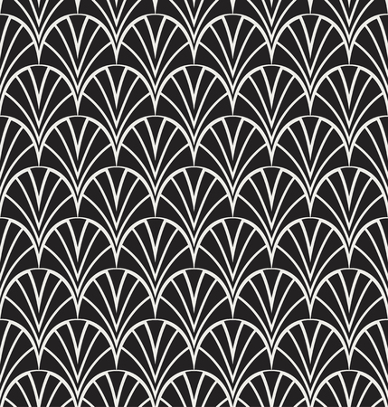 Art Deco Seamless Pattern Background. Geometric decorative texture. Ilustração