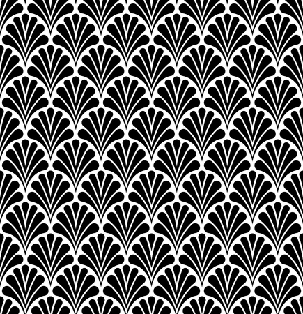 Japanese Ornamental Vector Background. Art Deco Floral Seamless Pattern. Geometric decorative texture. Standard-Bild - 98786497