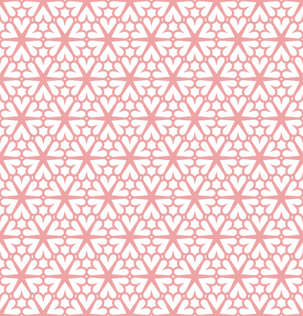 Ornamental hearts tiles seamless vector pattern.