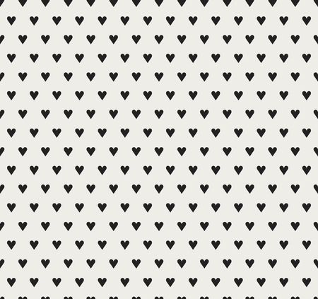 Vector Illustration with Hearts. Abstract Cute Seamless Pattern. Vetores
