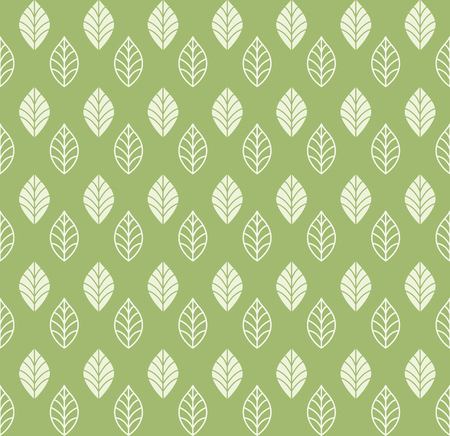 Geometric Leaf Vector Seamless Pattern. Floral Illustration background.
