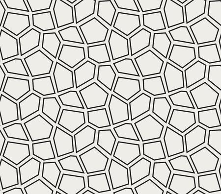 Modèle de mosaïque vectorielle continue. Fond de cellules irrégulières. Texture Voronoi.