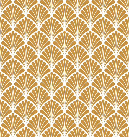 Vector Classic Floral art nouveau Seamless pattern. Stylish abstract art deco texture. Stock Illustratie