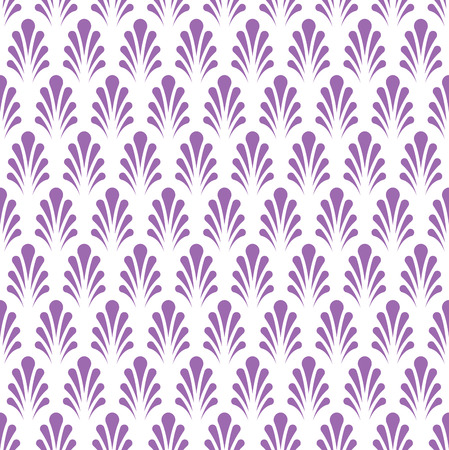 Vector Classic Floral art Seamless pattern in violet