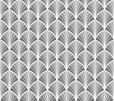 Abstract Decorative Tile Geometric Ginkgo Seamless Pattern Floral background. Ilustração