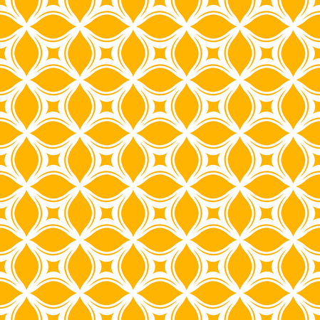Ornamental floral tiles seamless vector pattern. Abstract arabesque background.