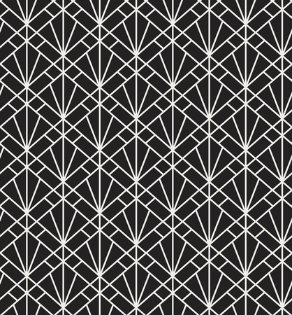 Classic Art Deco Seamless Pattern Geometric Stylish Texture Abstract Retro Vector Texture.
