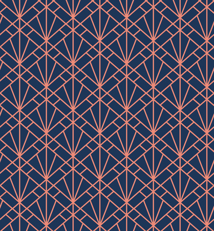 Classic Square Art Deco Seamless Pattern. Geometric Stylish Texture with Abstract Retro Vector Texture.