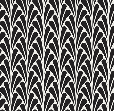 A Vector Classic Floral art nouveau Seamless pattern. Stylish abstract art deco texture.