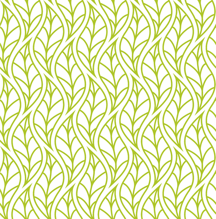 Trendy Tropical Leaves Vector Seamless Pattern Floral organic background in light green