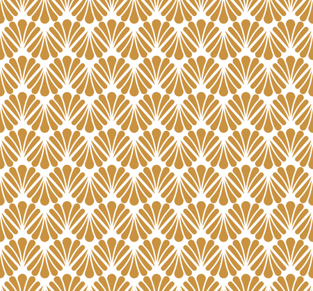Vector Classic Floral art nouveau Seamless pattern. Stylish abstract art deco texture. Ilustração