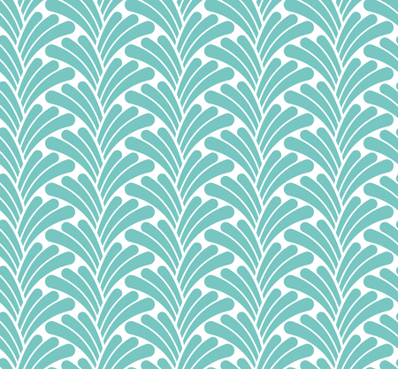 Seamless Geometric Art Deco Pattern. Abstract vector floral background.