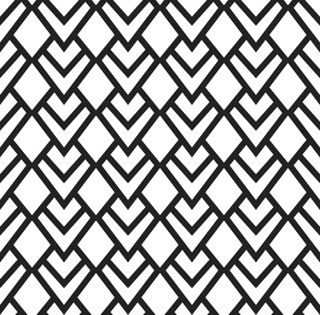Vector Diamond Modern Seamless Pattern. Monochrome Retro Texture. Hipster Geometric Background.