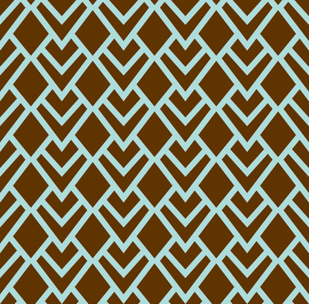 Geometric Diamond Vector Seamless Pattern. Abstract Art Deco Background. Classic Stylish Texture.