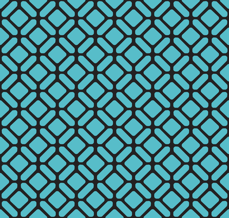 Seamless Blue Art Deco Pattern. Stylish antique background.