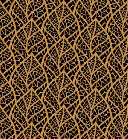 Decorative Leaves Seamless. Mosaic leaf background. Floral Texture. Vetores