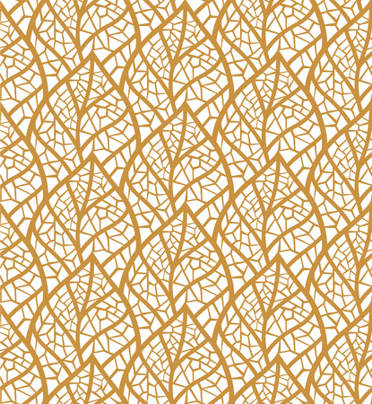Decorative Leaves Seamless. Mosaic leaf background. Floral Texture.