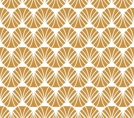 Geometric Gold Diamond Seamless Vector Pattern. Abstract Art Deco Background. Classic Stylish Texture.