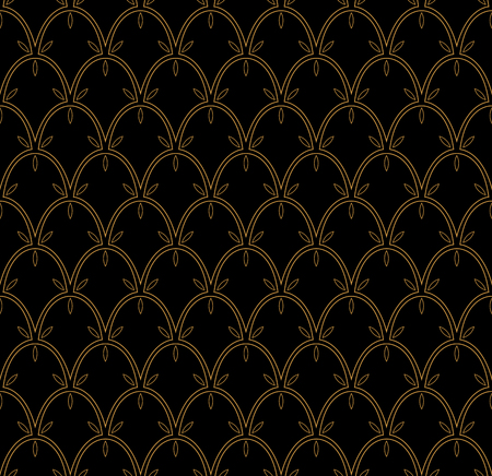 Vector Seamless pattern. Stylish abstract art deco texture.