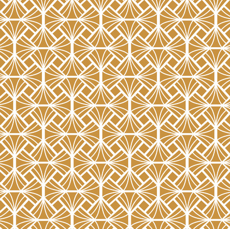 Geometric Gold Diamond Seamless Vector Pattern. Abstract Art Deco Background. Classic Stylish Texture.