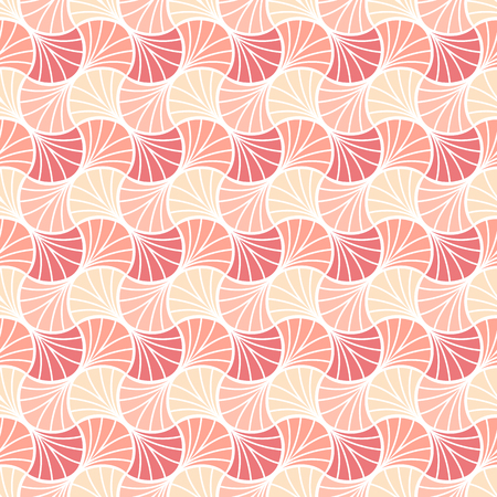 Abstract Pink Art Deco Seamless Background. Geometric Fish Scale Pattern.