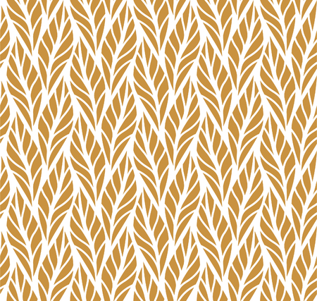 Geometric leaves vector seamless pattern. Abstract vector texture. Leaf background. Vettoriali