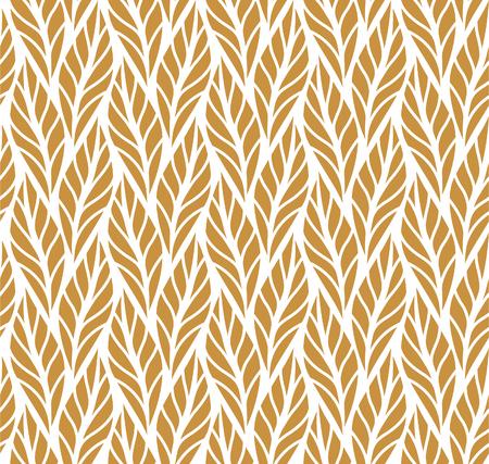 Geometrisch bladeren vector naadloos patroon. Abstracte vectortextuur. Leaf achtergrond. Vector Illustratie