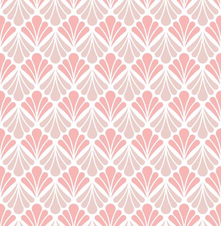 Elegant Floral Damask Vector Seamless Pattern. Decorative Flower Illustration. Abstract Art Deco Background. Illustration