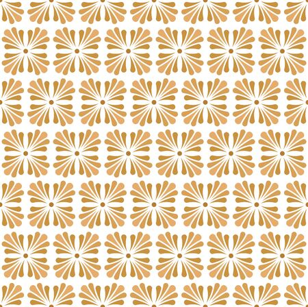 Vector floral abstract seamless pattern. Geometric classical background with leaves. Retro stylish texture.
