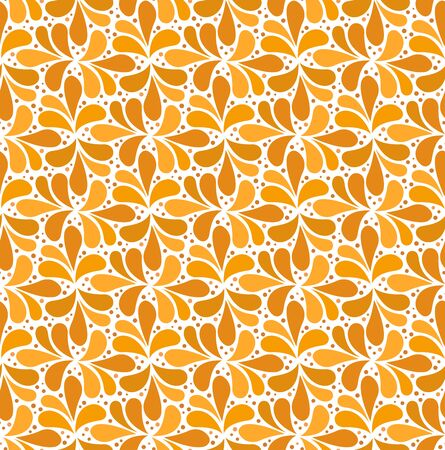 Abstract vector illustration with flower. Geometric Seamless Pattern.
