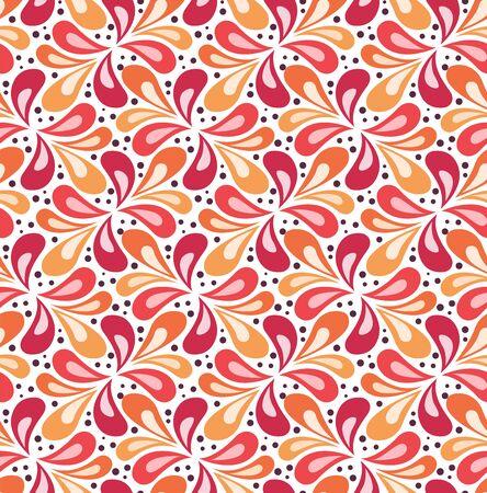 Seamless Arabesque Floral Pattern. Art Deco Style Background. Vector Abstract Flower Texture. Ilustração