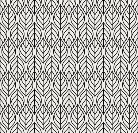 Vector Geometric Leaves Seamless Pattern. Abstract Style Background. Art Deco Geometric texture. Ilustração