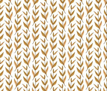 Vector Leaf Seamless Pattern. Abstract leaves texture. Ilustração