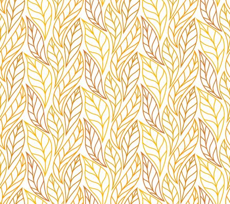 Geometric leaves vector seamless pattern. Abstract vector texture. Leaf background. Stock Illustratie