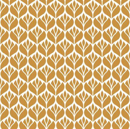 Elegant Floral Vector Seamless Pattern. Decorative Flower Illustration. Abstract Art Deco Background. Stock Illustratie