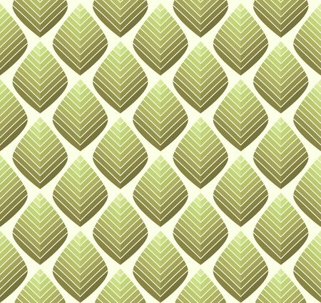 Geometric leaves vector seamless pattern. Abstract vector texture. Leaf background. Vectores