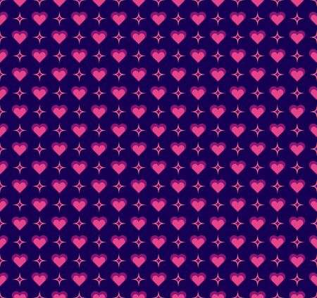 Hand drawn vector illustration with cute hearts. Geometric Seamless Pattern.