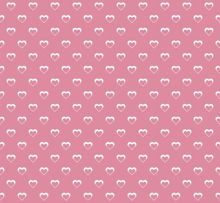 Vector Geometric Heart Background. Abstract cute seamless pattern.