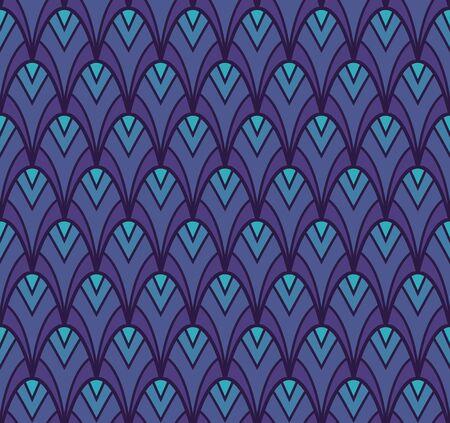 Art Deco Seamless Pattern Background. Geometric decorative texture. Ilustração
